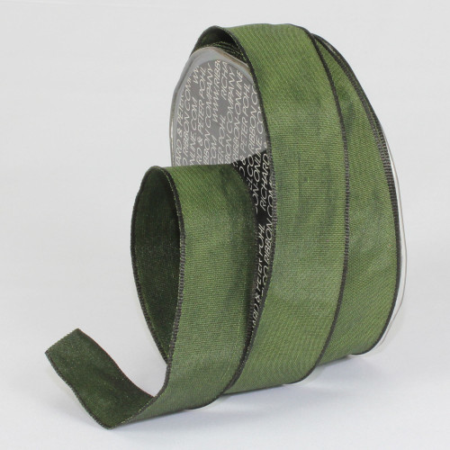 """Forest Green Solid Wired Craft Ribbon 1"""" x 54 Yards - IMAGE 1"""