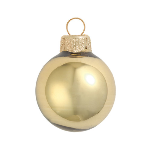 """4ct Shiny Antique Gold Glass Ball Christmas Ornaments 4.75"""" (120mm) - IMAGE 1"""