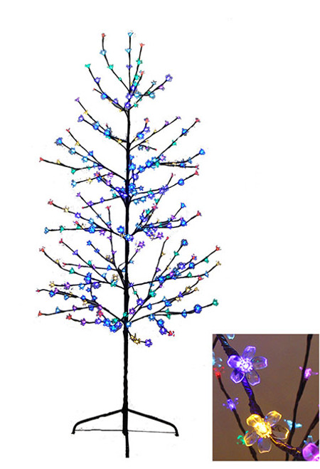 6' Enchanted Garden LED Lighted Cherry Blossom Flower Tree - Multi-Color Lights - IMAGE 1