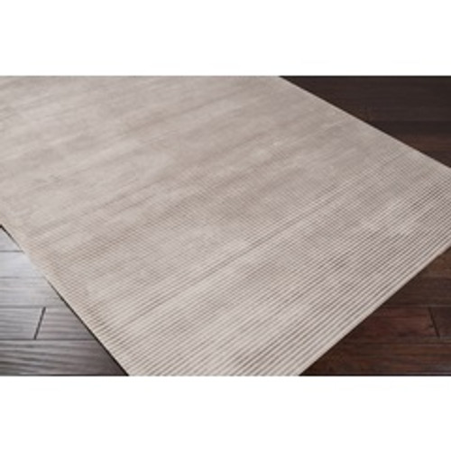 8' x 11' Ivory and White Hand Loomed Rectangular Area Throw Rug - IMAGE 1