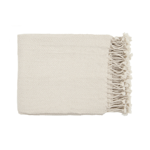 "50"" x 60"" Sweet Indulgence Off-White Throw Blanket - IMAGE 1"