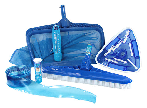50-Inch HydroTools Premium Swimming Pool Cleaning and Maintenance Kit with Test Strips - IMAGE 1
