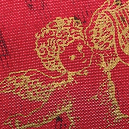 """Red and Gold Angel Wired Craft Ribbon 2.5"""" x 27 Yards - IMAGE 1"""