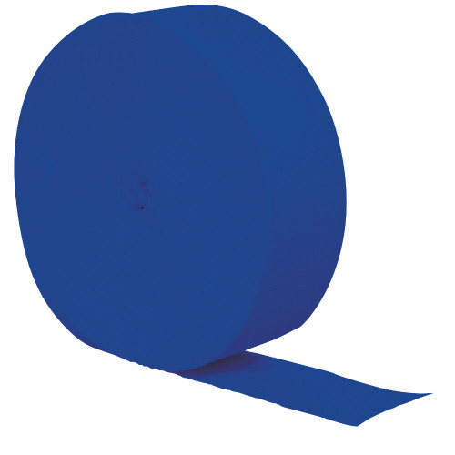 Club Pack of 12 Cobalt Blue Crepe Party Streamers 81' - IMAGE 1