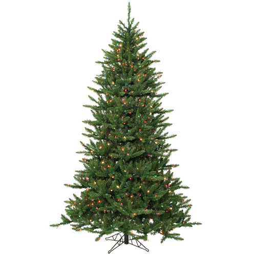 14' Pre-Lit Frasier Fir Artificial Christmas Tree with Stand - Multi Dura Lights - IMAGE 1