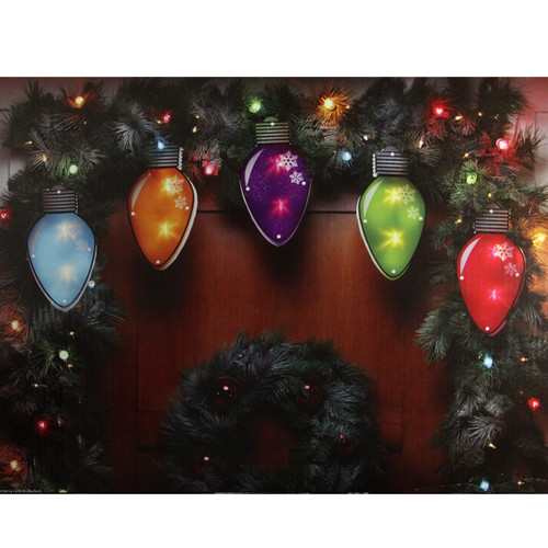 10 Multi-Color Shimmering C7 Bulb Christmas Light Garland Clear Mini Lights - 4.8 ft White Wire - IMAGE 1
