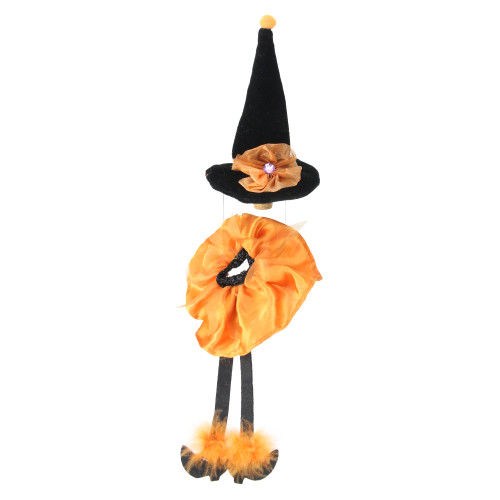 """6.5"""" Orange and Black Witches Hat Halloween Wine Bottle Stopper - IMAGE 1"""