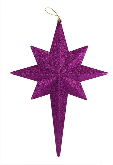 "20"" Purple Passion Glittered Bethlehem Star Shatterproof Christmas Ornament - IMAGE 1"