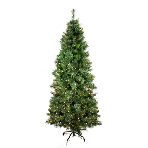 7.5 ft Pre-Lit Medium Mixed Cashmere Pine Artificial Christmas Tree - Clear Lights - IMAGE 1