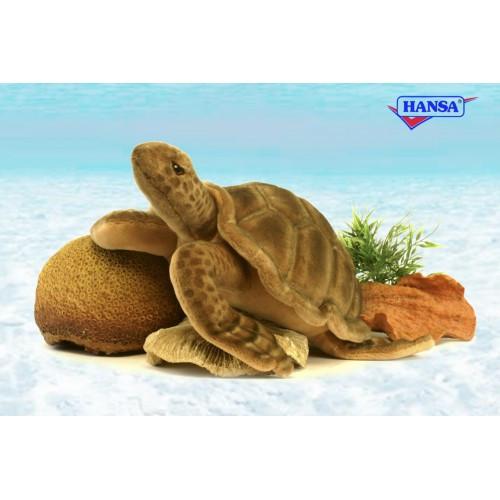 "Life-Like Handcrafted Extra Soft Plush Sea Tortoise 19.5"" - IMAGE 1"