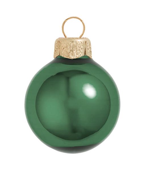 "2ct Emerald Green Glass Shiny Christmas Ball Ornaments 6"" (150mm) - IMAGE 1"