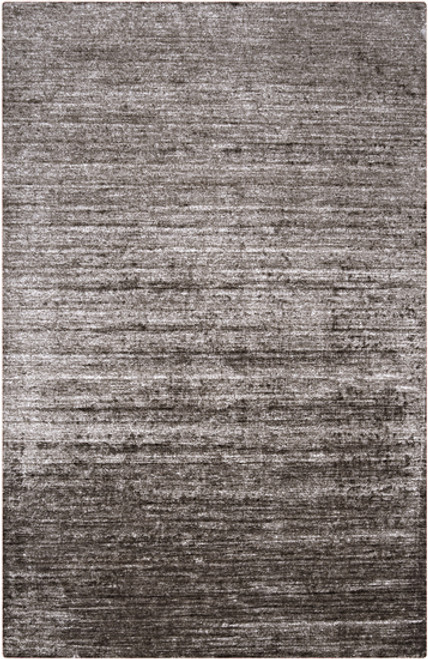 3.5' x 5.5' Gray Solid Hand-Knotted Area Throw Rug - IMAGE 1