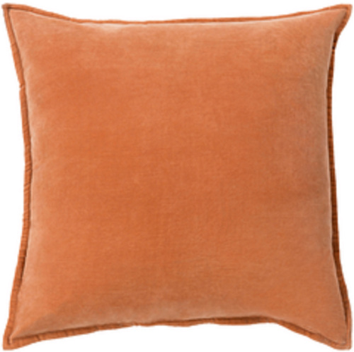 """20"""" Calma Semplicita Rust Orange Decorative Square Throw Pillow - Down Filler - IMAGE 1"""
