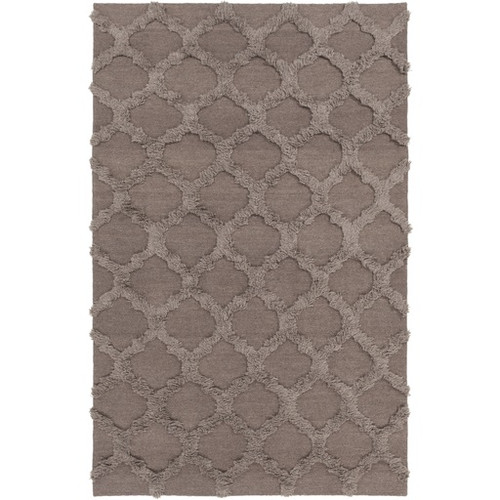 2' x 3' Honeycomb Heaven Taupe Gray Wool Area Throw Rug - IMAGE 1