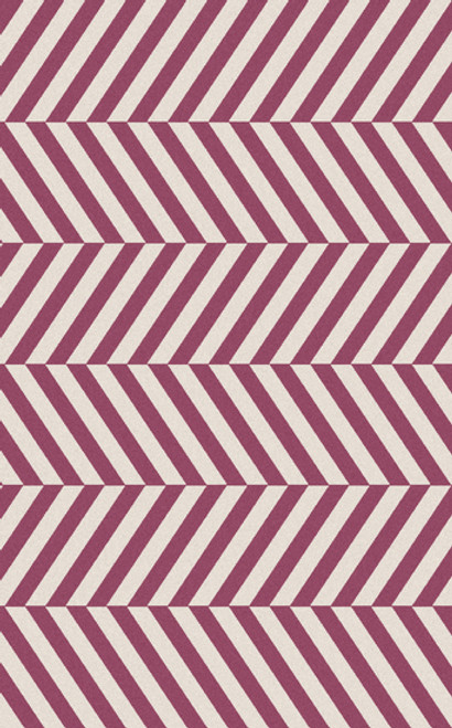 3.5' x 5.5' Herringbone Pink and Gray Hand Woven Wool Area Throw Rug - IMAGE 1