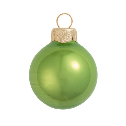 "Pearl Lime Green Glass Ball Christmas Ornament 7"" (180mm) - IMAGE 1"