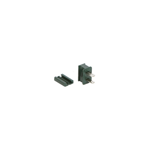 Green Male Quick Zip Plug For SPT-1 18 Gauge Wire 8 Amps - IMAGE 1