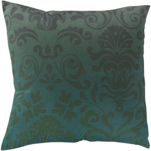 """18"""" Green and Blue Square Contemporary Throw Pillow - IMAGE 1"""