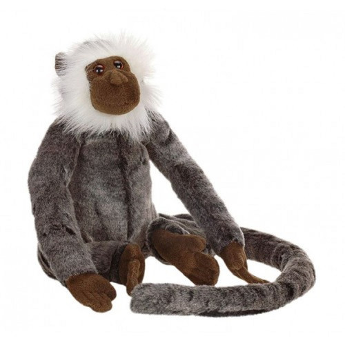 """Set of 2 Brown and Gray Handcrafted Soft Plush Posable Jolly Monkey Stuffed Animals 9.5"""" - IMAGE 1"""