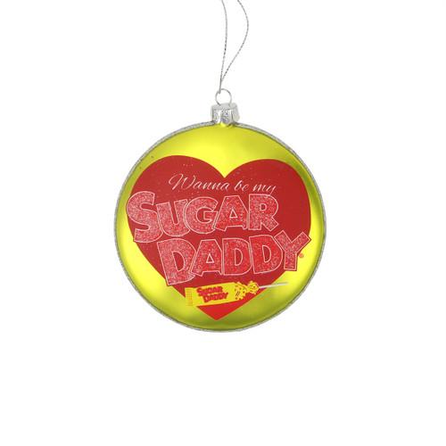"4"" Candy Lane Tootsie Roll Sugar Daddy Original Milk Caramel Lollipop Christmas Disc Ornament - IMAGE 1"