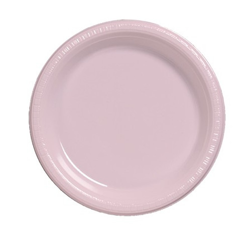 """10"""" Classic Pink Disposable Plastic Party Banquet Dinner Plates Pack of 240 - IMAGE 1"""