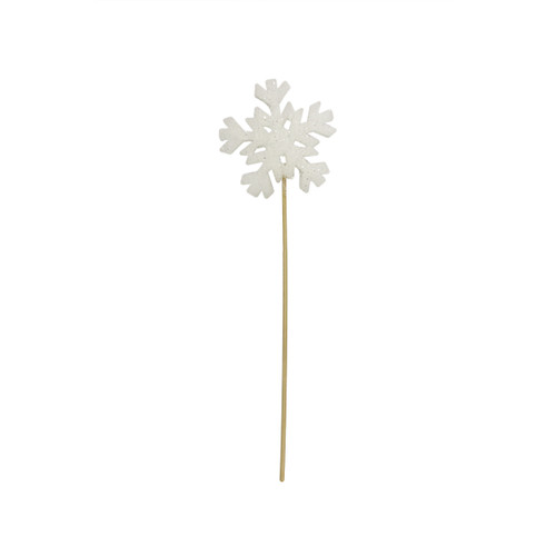 """13"""" Tell a Story Winter Frost White Christmas Snowflake Pick - IMAGE 1"""