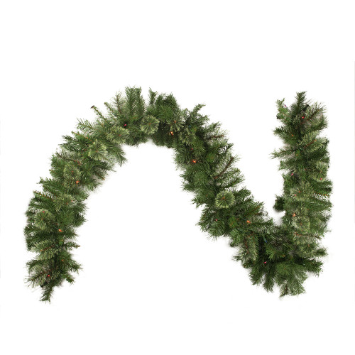 "9' x 10"" Pre-Lit Mixed Cashmere Pine Artificial Christmas Garland - Multi-Color Lights - IMAGE 1"