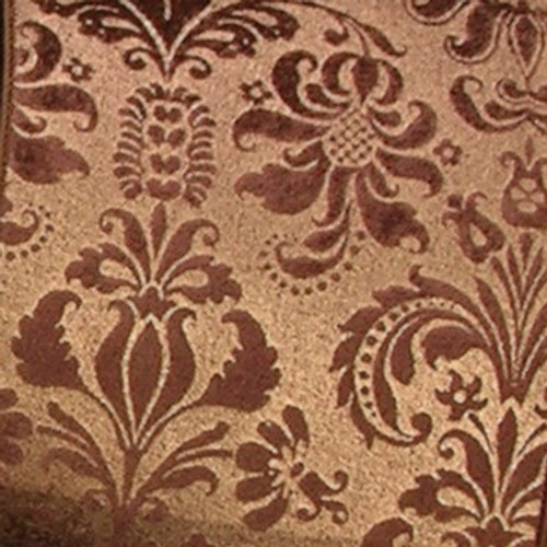 """Chocolate Brown Shiny Floral Wired Craft Ribbon 3"""" x 20 Yards - IMAGE 1"""