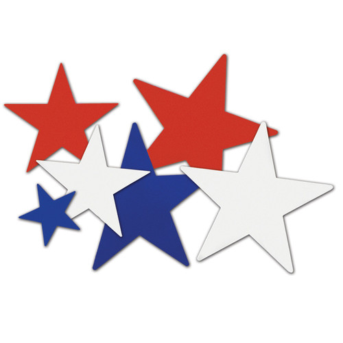 """Club Pack of 216 Red and Blue Star Cutout Decors 12"""" - IMAGE 1"""