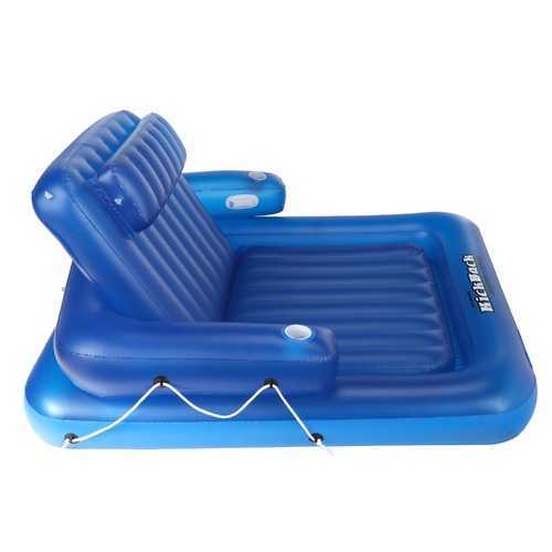 Inflatable Blue Kickback Adjustable Swimming Pool Lounger Float, 74-Inch - IMAGE 1