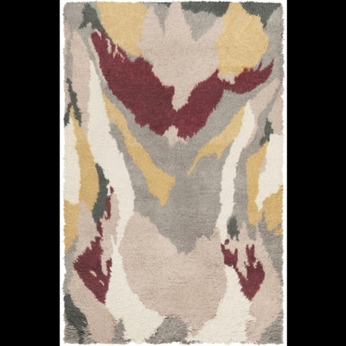 2' x 3' Gray and Brown Hand Tufted Plush Wool Area Throw Rug - IMAGE 1