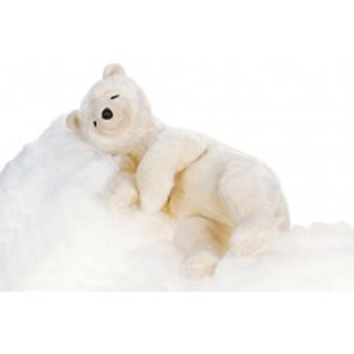 "27.25"" White Handcrafted Soft Plush Sleeping Bear Stuffed Animal - IMAGE 1"