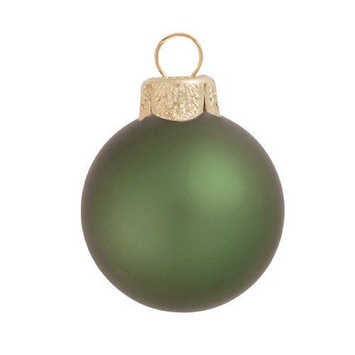 "Matte Shale Green Glass Ball Christmas Ornament 7"" (180mm) - IMAGE 1"