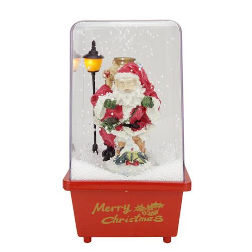 "11.5"" Musical Santa Claus Christmas Snow Globe Glittering Snow Dome - IMAGE 1"