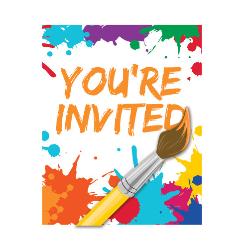 """Club Pack of 48 Vibrantly Colored """"You're Invited"""" Party Invitations 5"""" - IMAGE 1"""