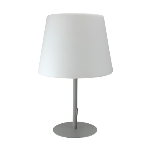 """23.25"""" Gray and White Outdoor Table Top Patio Lamp - IMAGE 1"""