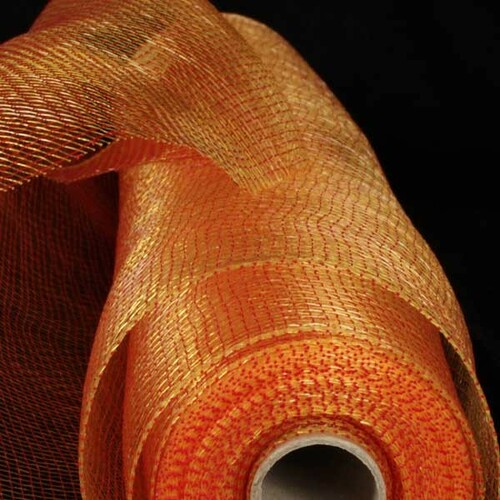 """Red and Gold Decorating Mesh Craft Ribbon 21"""" x 40 Yards - IMAGE 1"""