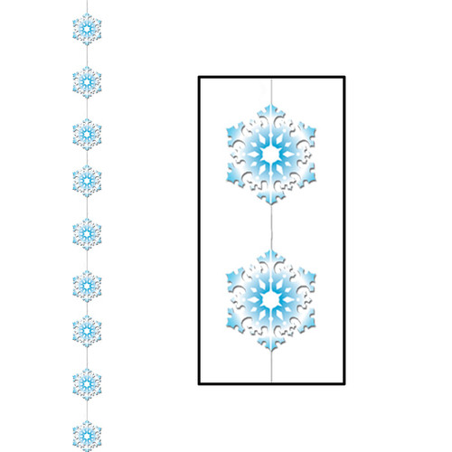 Club Pack of 12 Winter Wonderland Themed Snowflake Stringer Christmas Hanging Party Decorations 6.5' - IMAGE 1