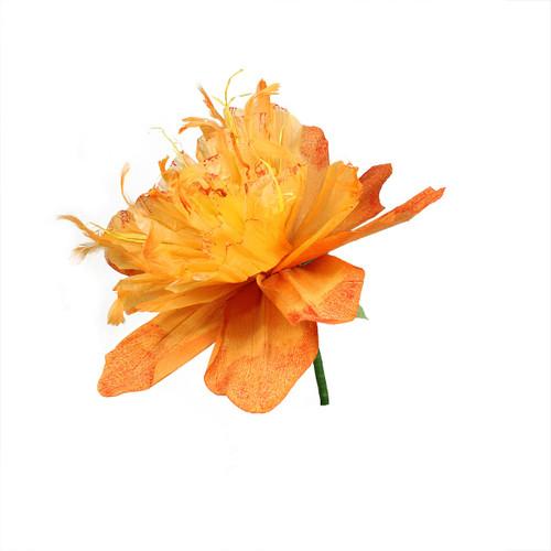 "26"" Orange and Green Spring Floral Artificial Craft Stem - IMAGE 1"