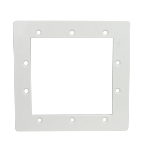 """8.25"""" White Standard Swimming Pool or Spa Skimmer Face Plate - IMAGE 1"""