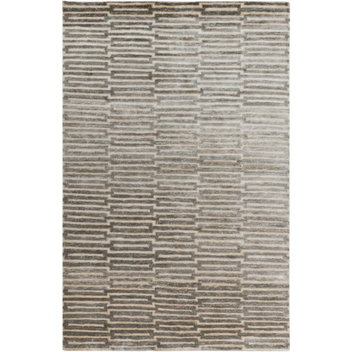 9' x 13' Gray Hand-Knotted Rectangular Area Throw Rug - IMAGE 1