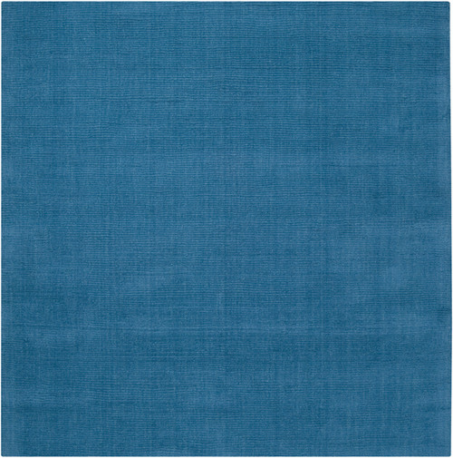 8' x 8' Sky Blue Solid Hand Loomed Square Area Throw Rug - IMAGE 1