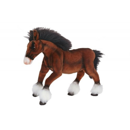 """Pack of 2 Life-like Handcrafted Extra Soft Plush Clydesdale Horse Stuffed Animals 19.75"""" - IMAGE 1"""