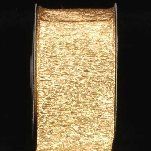 """Shimmering Gold Wired Craft Ribbon 3"""" x 20 Yards - IMAGE 1"""