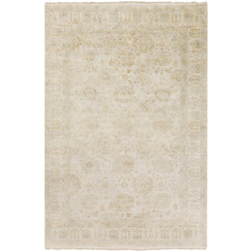 3.75' x 5.75' Venetian Gray and Brown Hand Knotted Wool Area Throw Rug - IMAGE 1