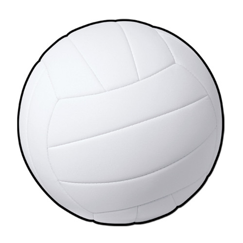 """Club Pack of 24 White Volleyball Party Decor Cutouts 13.5"""" - IMAGE 1"""