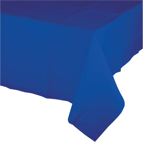 Club Pack of 12 Cobalt Blue Disposable Banquet Party Table Covers 9' - IMAGE 1