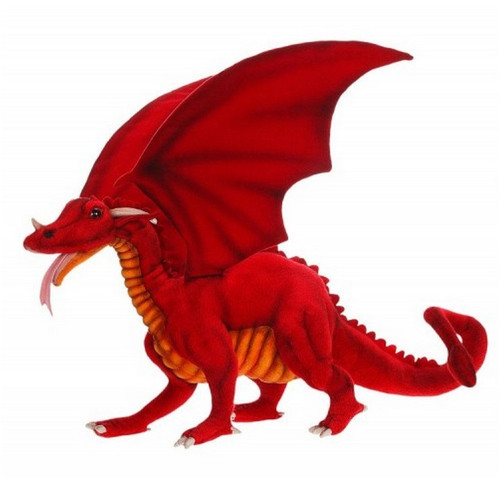 """22.75"""" Red Handcrafted Soft Plush Great Dragon Stuffed Animal - IMAGE 1"""