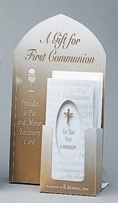 Club Pack of 288 First Communion Cross Pins With Money Card Envelopes #40334 - IMAGE 1