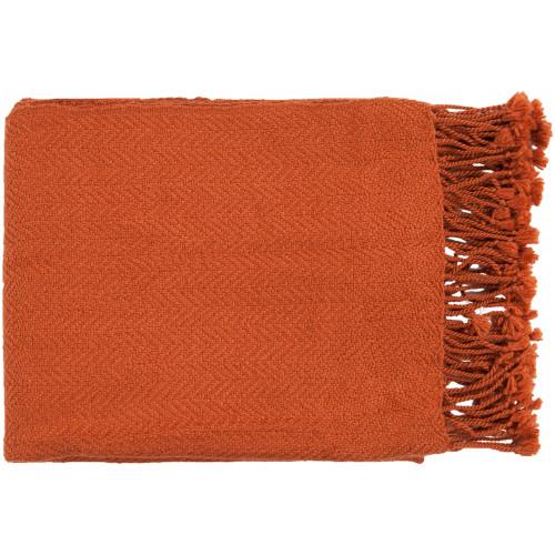 "50"" x 60"" Sweet Indulgence Pumpkin Orange Throw Blanket - IMAGE 1"